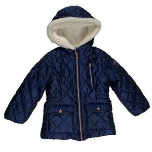 Girls Oshkosh B'gosh Blue Fleece Lined Coat